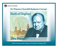 Polymer note new £5 note